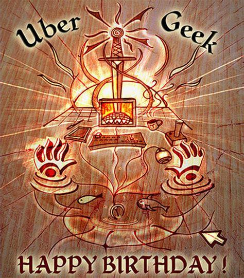 uber geek happy birthday  happy birthday ecards greeting cards