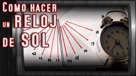 como hacer un reloj de sol solo con papel youtube