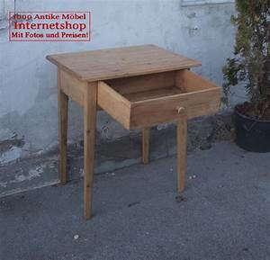 Kleiner antiker massiver tisch mit schublade antik mobel for Kleiner tisch mit schublade