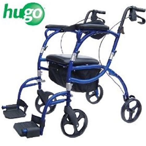 hugo navigator combination rolling walker transport