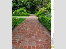 Brick Pathways Through A Garden Stock Photo Image 41567872