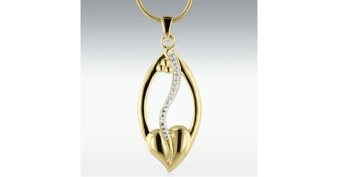 odyssey solid  gold cremation jewelry engravable