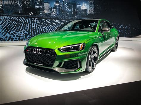 New York Auto Show 2018 by 2018 Nyias New Audi Rs5 Sportback Unveiled In New York