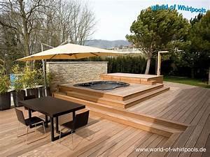 Eingelassene whirlpools whirlpools nrw fur den garten for Whirlpool garten mit stahlgeländer balkon