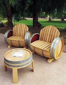 Meubles De Jardin Design : meuble original compos de vraies barriques design feria ~ Dailycaller-alerts.com Idées de Décoration