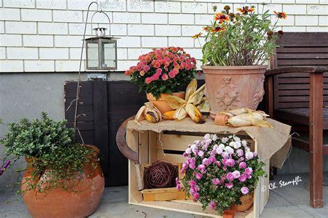 Herbst Garten Dekoration by Terrassen Deko Basteln Modern Terrasse Dekoration