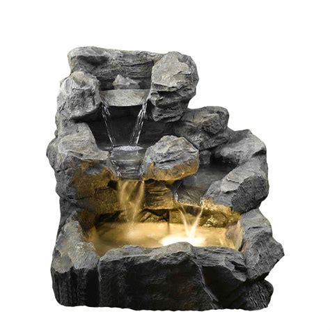 kontiki water features faux stone fountains rock creek