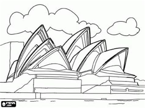 sydney opera house  australia adult colouring