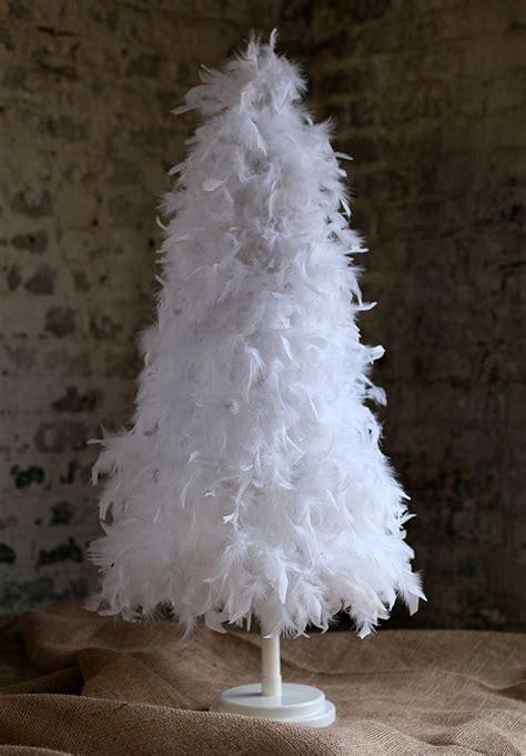 foot white feather tree white christmas