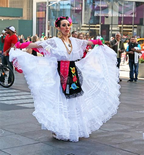 Mexican Dancer In Times Square Editorial Photo Image of
