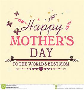 Poster, Banner Or Flyer For Happy Mothers Day. Stock ...