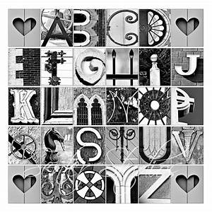 Alphabet print abcs photo letter art from architectural for Architectural letter art