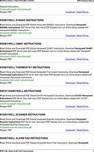 Honeywell Thermostat Cm51 Users Manual Instructions