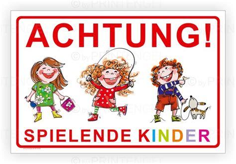 warnschild spielende kinder achtung spielende kinder warnschild hinweis schild