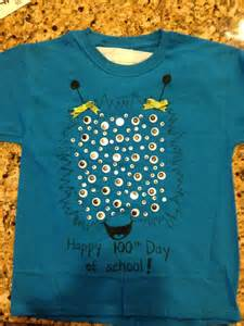 100th Day School Shirt Ideas