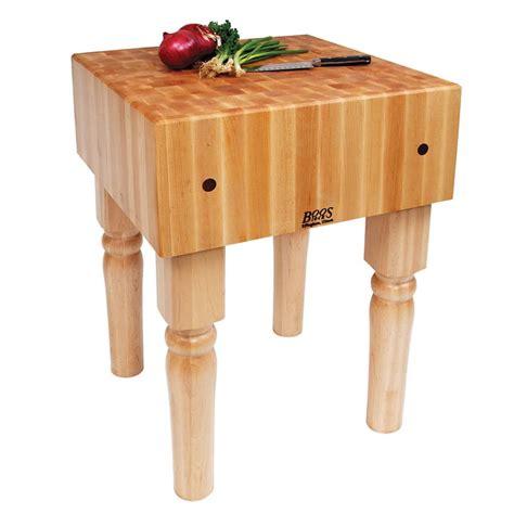 "John Boos Ab01 10"" Maple Top Butcher Block Work Table 18"