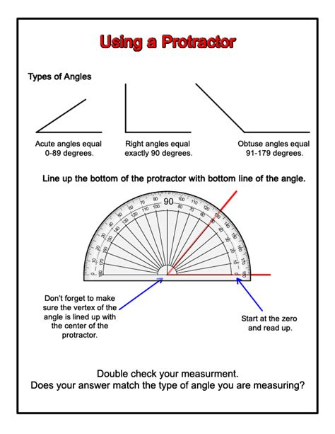 how to use a protractor worksheet worksheets for all