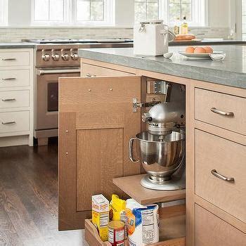 Wire Brushed Oak Cabinets by Grey Limestone Kitchen Countertops Design Ideas