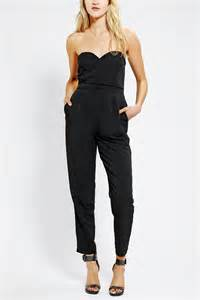 Urban Outfitters Decor by Sparkle Amp Fade Strapless Sweetheart Jumpsuit Urban