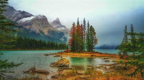 jasper national park canadian rockies spirit island island