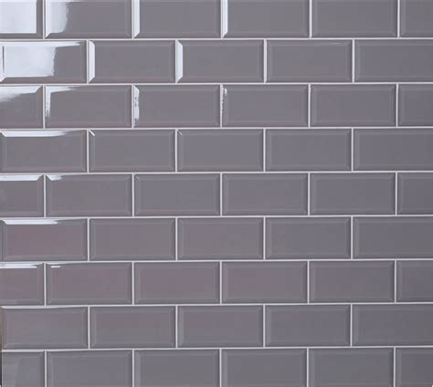 Metro Ambience Slate Grey brick shaped wall tile with a