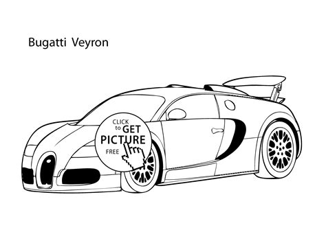 Slide crayon on nascar coloring page free to print out of world class racers johnson. Super car Buggati Veyron coloring page, cool car printable free | coloing-4kids.com