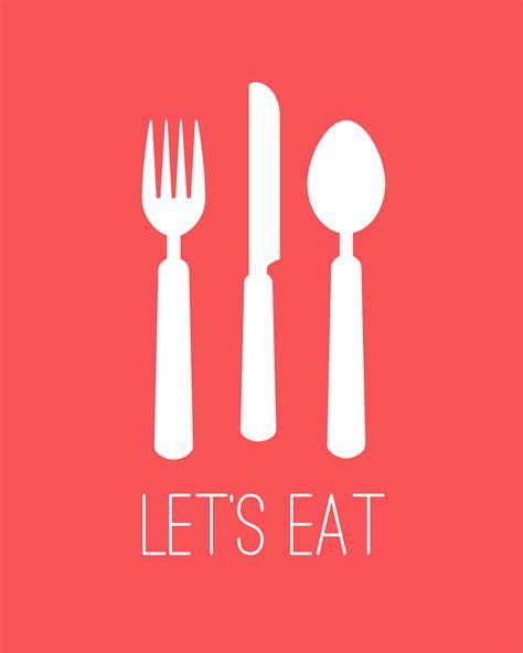 eat eat free quot let 39 s eat quot kitchen printable 4 colors cupcake