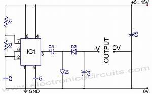 555 Negative Voltage Power Supply Circuit
