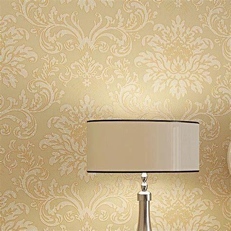 europe modern textured glitter damask wallpaper yellow
