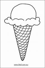 Ice Cream Cone Template Drawing Printable Templates 0to5 Children Young Craft Crafts Party Suitable Coloring Scoop Cones Pages Drawings Google sketch template