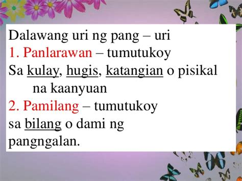 pang uri worksheets for grade 3