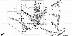 Honda Scooter 2010 Oem Parts Diagram For Front Brake