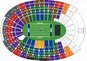 Coliseum Seating Chart Rams United Airlines Memorial Coliseum Los Angeles Rams