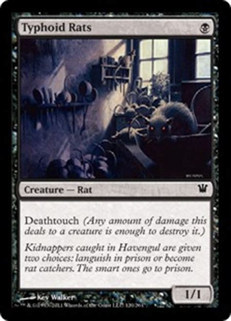 magic the gathering rat deck modern typhoid rats innistrad community gatherer magic