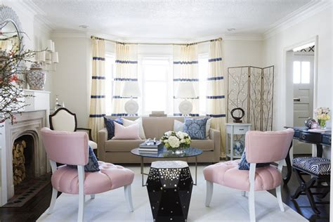 pink accent chairs contemporary living room