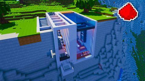 minecraft cliff side modern redstone house youtube