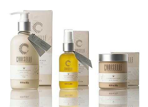 packaging choiselle skincare products label bottles hangtag branding