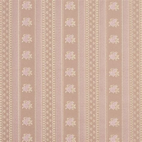 Brocade Upholstery Fabric - d126 gold and pink floral striped brocade upholstery