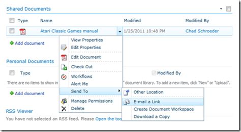Office 365 Outlook Hyperlink by Sharepoint 2010 Email A Link Sle I You A