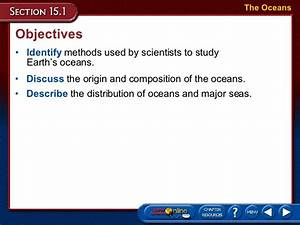 oceanography With which describes the composition of the ocean floor