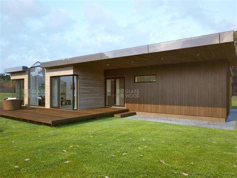 modular wooden houses glass wood design