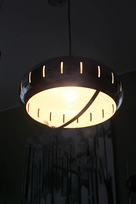 chrome space age hanglamp froufrous