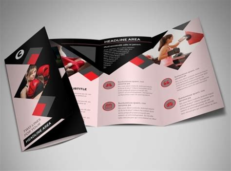 gym brochures printable psd ai indesign vector
