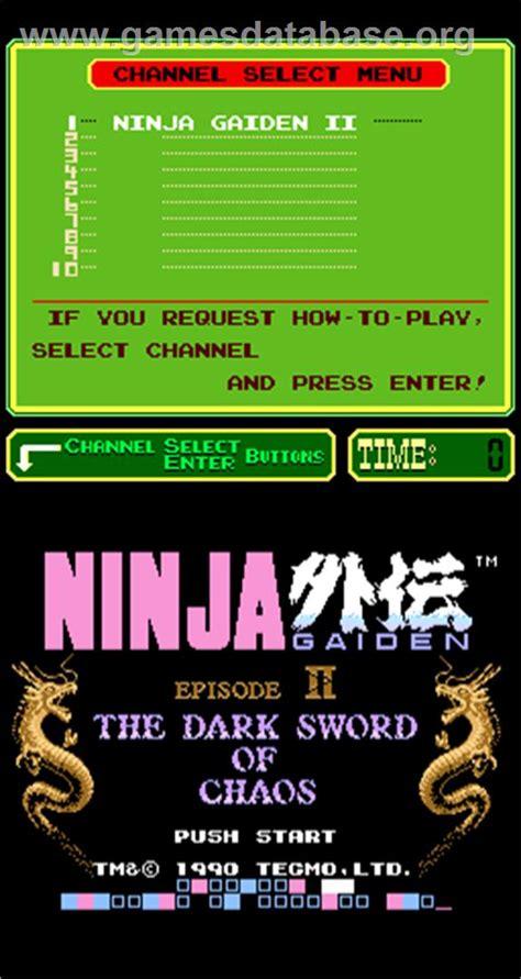 Ninja Gaiden Episode Ii The Dark Sword Of Chaos Arcade