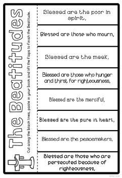beatitudes activity pack  ponder   tpt
