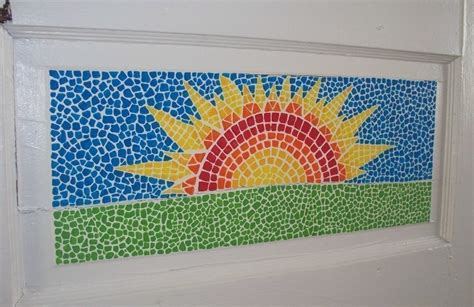 kitchen backsplash tin faux mosaic painted how to a of mosaic