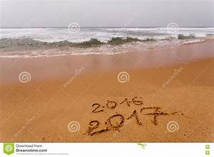 Happy New Year 2017 On The Beach Stock Image - Image: 78642749