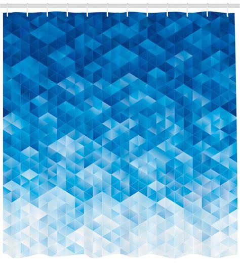 Geometric Decor Shower Curtain Set Geometric Gradient