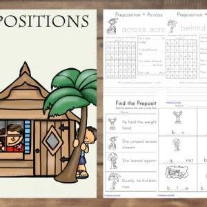preposition printable pack  images prepositions