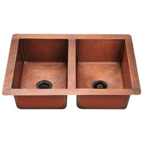 undermount copper kitchen sink polaris sinks undermount copper 33 in bowl kitchen 6577